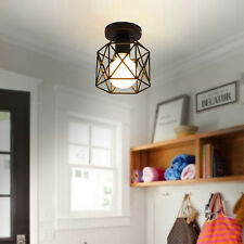 Ceiling Lamp Vintage Metal Mount Industrial Hanging Pendant Light Cage Fixture K