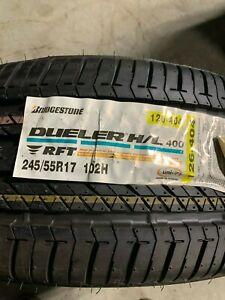 1 New 245 55 17 Bridgestone Dueler H/L 400 Run Flat Tire