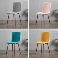 Marco Stoff Esszimmerstuhl Retro Vintage Stil Lounge Esszimmer Nussbaum Holz UK