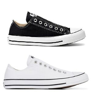 Converse Chuck Taylor All Star Slip on Low weiss schwarz Sneaker Turnschuhe