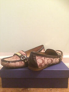 Coach Womans Monogram Loafers NWT 9