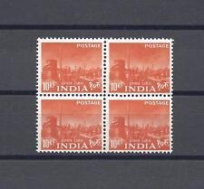 India 1958-63 SG 416 Gomma integra, non linguellato blocco di 4 CAT £ 200