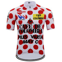 Cafe de Colombia 85s Retro Cycling Jersey Short Sleeve