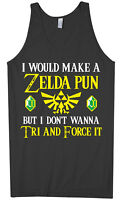 Zelda Pun Try And Force It Men's Tank Top Funny Video Game