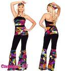 Ladies 60s 70s Retro Hippie Go Go Girl Disco Costume Hens Party Fancy Dress