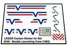 Lego® Custom Pre-cut Transparent Sticker for Town 6346 - Shuttle Launching Crew