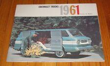 Original 1961 Chevrolet Truck Corvair 95 Models Sales Brochure Loadside Rampside