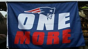 New England Patriots flag, ONE MORE Super Bowl champ banner, Blue Polyester FAST