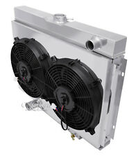 "Big Block Mercury Cougar Aluminum Radiator Bundle w/ Shroud & Fans 24"" Core DPI"