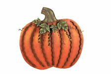 Metal Pumpkin Decor Leaves Swirled Harvest Thanksgiving Pumpkin Decoration