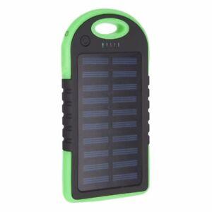 4000mAh Solar Waterproof Power Bank External Mobile Phone Fast Battery Charger