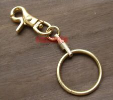 Solid Messing Hummer Verschlüsse Swivel Trigger Snap Hook Key Chain Ring Halter H033