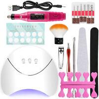 Manicure Tool Set Nail Art Tool Kit Nail Drill Machine Nail Lamp Top&Base Coat
