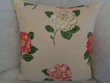 Sanderson Curtain Fabric Lamorna 60cm X 130cm Strawberry/cream Cotton Floral