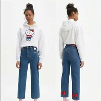 LEVI's Hello Kitty Unbasic Hoodie Pullover White Womens Large