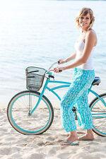 RAYON CARIBEAN BEACH PANTS - AQUA- X LARGE ON SALE NOW!