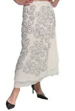 Butler And Wilson Off White Wrap Skirt With Silver Beading Stunning
