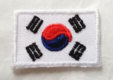 SOUTH KOREA NATIONAL COUNTRY FLAG 2X3CM. EMBROIDERED SEWING IRON-ON PATCH