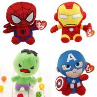 Beanie Babies Marvel DC Plush Stuffed Toy - Avengers/Batman/Thor - 6x Options