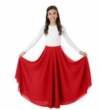 """32/"""" Praise Dance Circle Skirt 12-14 Body Wrappers 0501 White Child Size Large"""