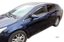 DTO29610 Toyota Avensis estate  2009 -up wind deflectors 4pc set TINTED HEKO