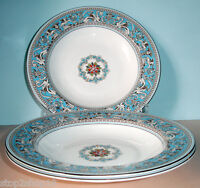 Wedgwood FLORENTINE TURQUOISE Set Of 4 Rim Soup Bowls New 9-Inch Made in U.K