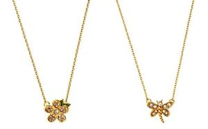 NWT Authentic Juicy Couture Gold-Tone Pave Necklace