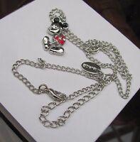 Disney Mickey Mouse pendant silver Enamel necklace / pendant .genuine VERY NICE