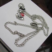 Genuine Disney Mickey Mouse silver Enamel necklace / pendant . VERY NICE