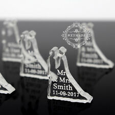 100Pcs Personalized Wedding Engraved Couple Names Party Table Decoration Favours
