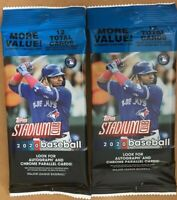 2 2020 Topps Stadium Club Value Hanger Packs -12 cards each - RC Bichette Yordan