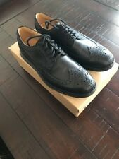 Cole Haan LunarGrand Long Wing Tip Leather Black Men's 7.5 C13737 New In Box