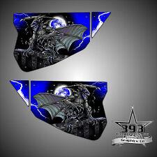 Polaris RZR 1000 XP TMW Sidewinder Venom Door Wrap Graphics Guardian Blue