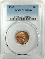1947 Lincoln Wheat Cent Penny PCGS MS65 RD