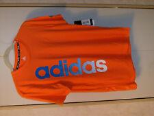 Adidas Climalite Short Sleeve Top Neon Orange Women M Youth Lg Reflective Logo