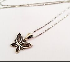Beautiful 925 Sterling Silver Butterfly pendant necklace Israel Made