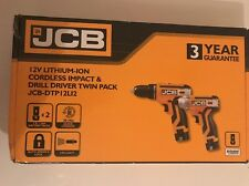 JCB 12V DRILL DRIVER AND IMPACT DRIVER KIT JCB-DTP12LI2 Brand-New