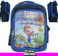"16"" Super Mario Brothers GALAXY 2 YOSHI STAR Backpack School Book Bag"