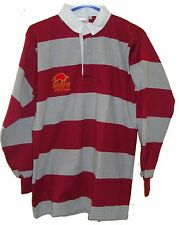 "Mens Raging Bull Stripe Long Sleeve Rugby Jersey Polo Shirt Top Size 40"" (#2085)"