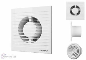 """4"""" 100mm Standard Timer Humidity Toilet Extractor Bathroom Fan LOW PROFILE"""