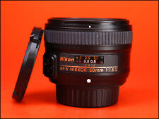 Nikon AF-S 50mm F1.8 G Autofocus Prime Full Frame Lens + Front & Rear Lens Caps
