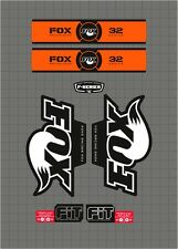 FOX RACING SHOX 32 SERIES FORK DECAL orange