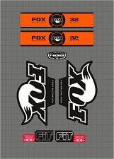 FOX RACING SHOX 32 SERIES FORK DECAL orange