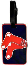 Boston Red Sox Luggage Travel Bag Tag ID Soft Rubber Tag Double Sox Logo
