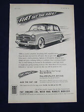 FIAT 1100 TV TOURISMO VELOCE 1955 POSTER ADVERT READY TO FRAME A4 SIZE
