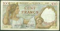 BILLET DE 100 FRANCS SULLY 29-6-1939  ETAT:  TB +  S.357