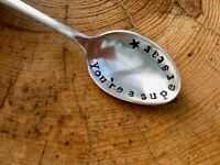 Stamped spoon - You're a superstar, hand stamped, vintage, gift box, xmas, love