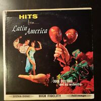 """Juan Del Oro and his Orchestra """"Hits from Latin America"""" Vinyl Record LP"""