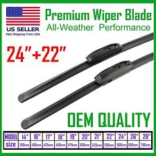 """Allstrong Best Quality 24""""+22"""" Windshield Wiper Blades All Weather Performance"""