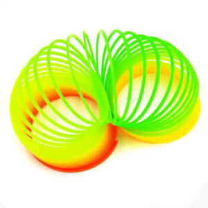 Magic Rainbow Spring Coil Slinky Toy Fun Classic Colorful Toys Gifts for Kids